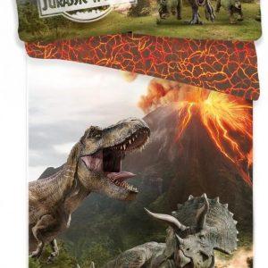 Jurassic World - Dekbedovertrek 140 x 200 cm kussenloop 70 x 90 cm 100% katoen