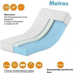 Karex® Komfort Serie 80x200 17cm Comfortschuim Matras H3 H4 7 Ligzones Schuim Matras