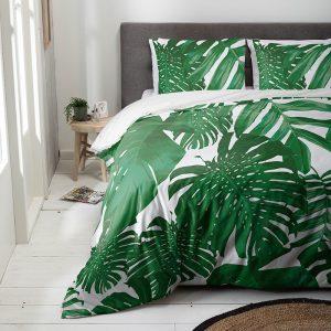 Luna Bedding Bending Green Lits-jumeaux (240 x 220 cm + 2 kussenslopen) Dekbedovertrek