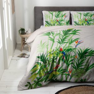 Luna Bedding Parrot Palm Lits-jumeaux (240 x 220 cm + 2 kussenslopen) Dekbedovertrek