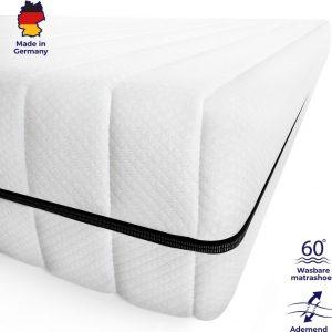 Matras - 80x200 - 7 zones - koudschuim - premium plus tijk - 15 cm - twijfelaar bed