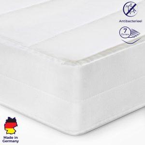 Matras - 80x200 - 7 zones - koudschuim - premium tijk - 15 cm hoog - twijfelaar bed