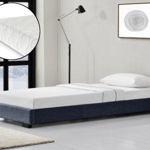 Modern bedframe stof met matras 90x200 donkergrijs