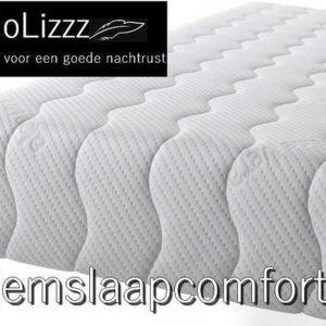 NoLizzz®- 1-Persoons Matras - MICRO POCKET 500 Koudschuim HR45/NASA 7 ZONE 25 CM - Fabrieksprijs - 80x200/25