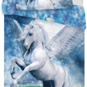 Paard dekbedovertrek - Pegasus - Eenpersoons - 140 X 200 cm + sloop 70 X 90 cm