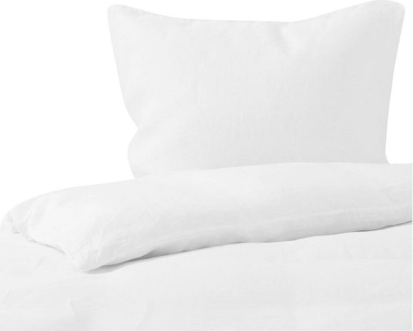 Passion for Linen Luxe dekbedovertrek Maxime 100% linnen, 140 x 220 cm, wit