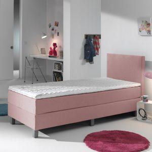 Primaviera Deluxe Kinderboxspring Comfort - Roze 90 x 200 cm, Topper: Standaard Comfortschuim, Montage: Inclusief montage