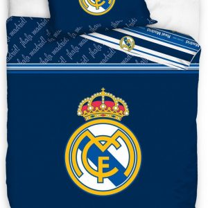 Real Madrid Dekbedovertrek 140 X 200 Cm Blauw 70 X 90 Cm