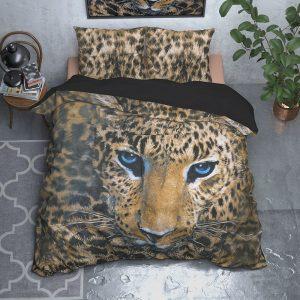 Sleeptime Elegance Cheeta - Taupe Lits-jumeaux (240 x 220 cm + 2 kussenslopen) Dekbedovertrek
