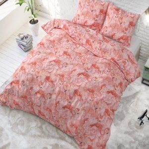 Sleeptime Elegance Flamingo Rush Lits-jumeaux (240 x 220 cm + 2 kussenslopen) Dekbedovertrek