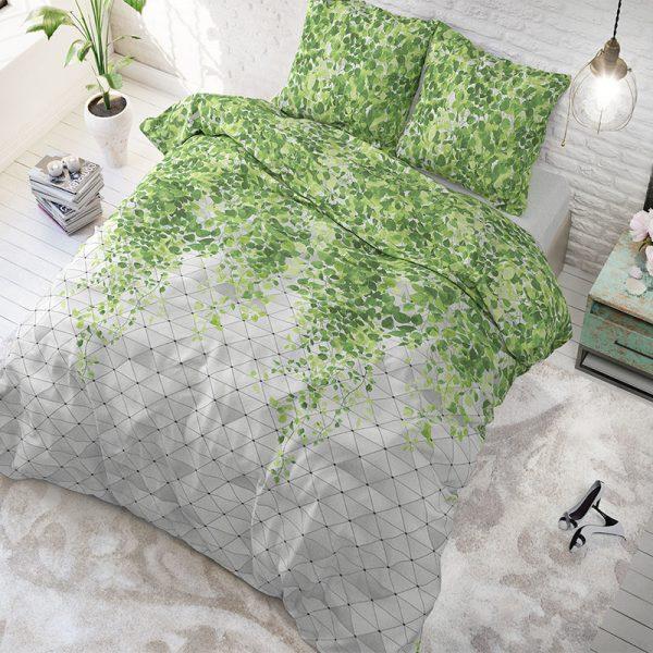Sleeptime Elegance Fresh Botanic Green 1-persoons (140 x 200/220 cm + 1 kussensloop)