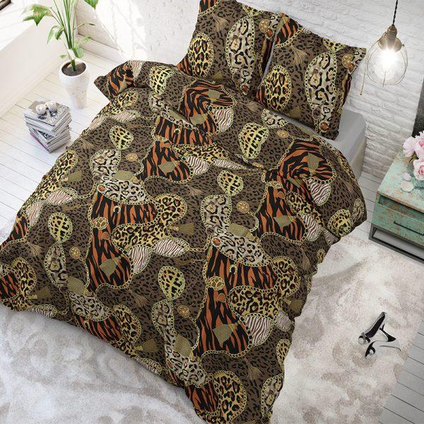 Sleeptime Elegance Panther Jewels Brown 1-persoons (140 x 200/220 cm + 1 kussensloop)