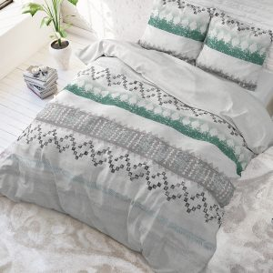 Sleeptime Elegance Scally - Wit Lits-jumeaux (240 x 220 cm + 2 kussenslopen)