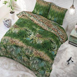Sleeptime Elegance Trendy Jungle Green 1-persoons (140 x 200/220 cm + 1 kussensloop)