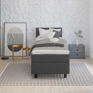 1-Persoons Boxspring - Boxspring Alfa Plus- Antraciet - 90x200