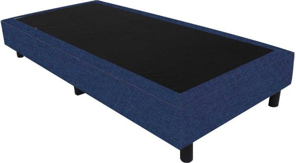Bedworld Boxspring 70x210 - Linnenlook - Donker blauw (S80)