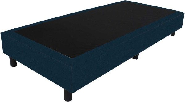 Bedworld Boxspring 70x210 - Velours - Blauw (ML77)