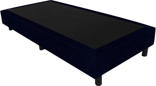 Bedworld Boxspring 70x210 - Velours - Donker blauw (ML79)