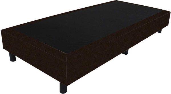 Bedworld Boxspring 70x210 - Velours - Donker bruin (ML29)