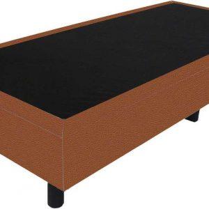 Bedworld Boxspring 70x220 - Lederlook - Roest bruin (MD956)
