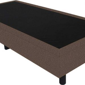Bedworld Boxspring 70x220 - Velours - Taupe (ML15)
