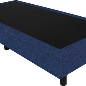 Bedworld Boxspring 80x210 - Linnenlook - Donker blauw (S80)