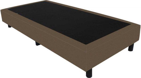 Bedworld Boxspring 80x220 - Lederlook - Donker taupe (MD929)