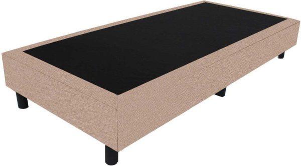 Bedworld Boxspring 80x220 - Linnenlook - Donker beige (S17)