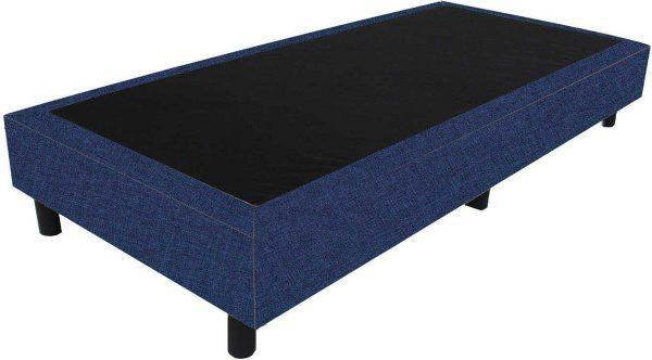 Bedworld Boxspring 80x220 - Linnenlook - Donker blauw (S80)