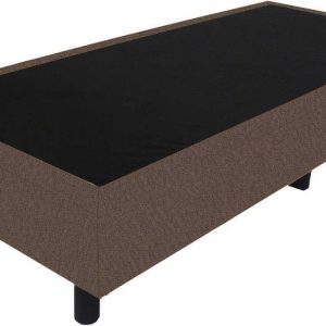Bedworld Boxspring 80x220 - Velours - Taupe (ML15)