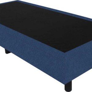 Bedworld Boxspring 90x210 - Suedine - Blauw (ON80)