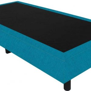 Bedworld Boxspring 90x210 - Suedine - Turquoise (ON85)