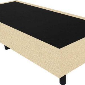 Bedworld Boxspring 90x210 - Velours - Donker beige (ML04)