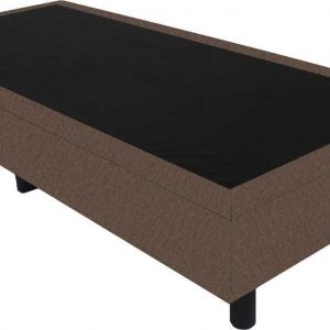 Bedworld Boxspring 90x210 - Velours - Taupe (ML15)