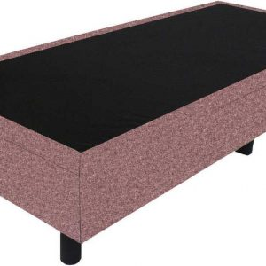 Bedworld Boxspring 90x210 - Wol look - Oud roze (WL61)