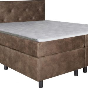 Boxspring Brighton Taupe 80x200 compleet inclusief topdekmatras
