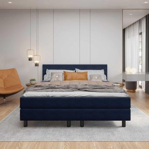 Boxspring DELTA COLOR - 180x200 - Donkerblauw - Tweepersoons