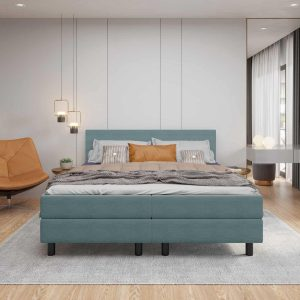 Boxspring DELTA COLOR - 180x200 - Lichtblauw- Tweepersoons