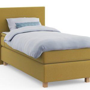 Boxspring Element Kiem Vlak Met Gestoffeerd Matras - 90 x 200 cm - geel