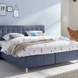 Boxspring Farini Verstelbaar Met Silver Pocket Foam Matras - 140 x 200 cm - blauw