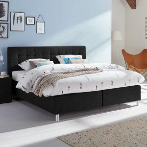 Boxspring Farini Vlak Met Bianco Matras - 160 x 220 cm - zwart