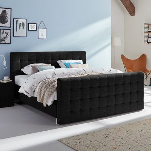 Boxspring Farini Vlak Met Silver Pocket Foam Matras En Voetbord - 160 x 220 cm - zwart