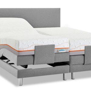 Boxspring Intense Sleep Verstelbaar Met Slow Motion 4 Matras - 140 x 200 cm - grijs