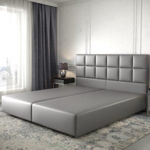 Boxspring-frame Dream-Fine kunstleder grijs 180x200
