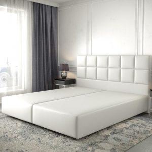 Boxspring-frame Dream-Fine kunstleder wit 180x200