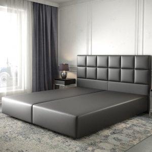 Boxspring-frame Dream-Fine kunstleder zwart 180x200