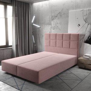Boxspring-frame Dream-Fine microvezel rosa 140x200