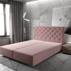 Boxspring-frame Dream-Great microvezel rosa 160x200