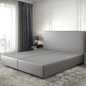 Boxspring frame Dream-Well Grijs 180x200 cm Kunstleder Beddengoed