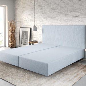 Boxspring frame Dream-Well Pastelblauw 180x200 cm vlak geweven Beddengoed
